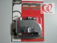 free shippment 2pcs hot cycling zinc alloy 9*7*3.5cm 100db bicycle electric alarm u lock/540g silver disc brake lock