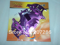 Free shipping 1pc/lot MOTORCYCLE Cool Bat Shape Modified License Plate Frame for Motorcycle 130525 purple