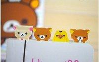 2013 new.    gift 2 pcs.set Rilakkuma bookmark sticker . paper index note label sticker .hot sale
