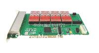 Newest TDM800P 8 ports asterisk fxo fxs card,elastix fxo card,dual modules FXO_200 / FXS_200