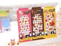 2013 new 1 pcs.set   rilakkuma style 3D PVC sticker . Decoration label .  .hot sale