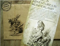 2013 new.20Pcs.set    style Alice's Adventure in Wonderland post card setGreeting Card.hot sale