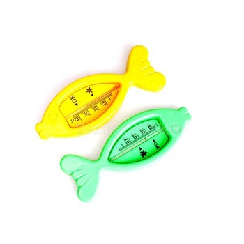 Floating Fish Lovely Plastic Float Toy Baby Bath Tub Water Sensor Thermometer NI