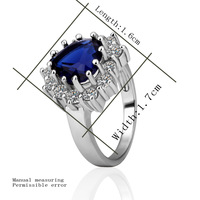 Wholesale Platinum Plated Ring Fashion Jewelry Ring Factory Prices Free Shipping 18KGP R218