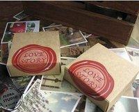 2013 new.70Pcs.set  love story   gift card . greeting . Birthday .wedding. kraft paper box .hot sale