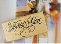 2013 new.Thank you series big shape 8*4cm wooden stamp .  Decoration   gift   toy .hot sale