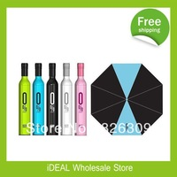 Wholesale 100pcs/lot Fashion Creative Bottle Umbrella /Wine Bottle Umbrella
