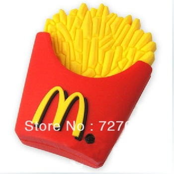 Creative Gift Cute Food Mcdonald's French Fries Mini  Pen drive Real Capacity 1G 2G 4G 8G 16G 32G USB  Flash Memory drive disk