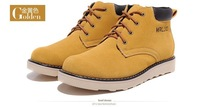 Fashionable man winter outdoor wool work tool shoes army Martin boots, rubber outsole, yellow, brown, sand color, and39-44