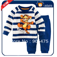 children boy's tiger striped pajamas set toddler's sleepwear baby Long sleeves homewear Girl Sleepwear Baby Pajamas 6set/lot