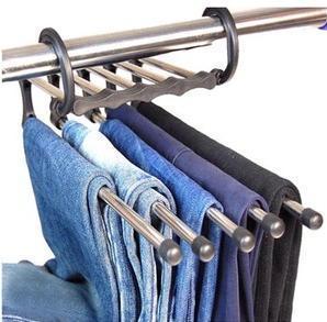 Stainless steel pipe hanger multi-layer pants clip retractable plastic multifunctional slip-resistant
