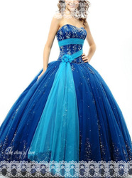 Long Different Color Ball Gown Formal Quinceanera Dress(China (Mainland))
