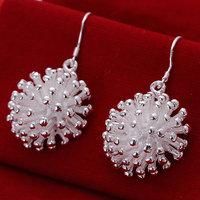 E114 925 sterling silver fashion jewelry earrings beautiful earrings high quality Fireworks Earrings
