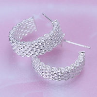 E082 925 sterling silver fashion jewelry earrings beautiful earrings high quality Weaved Web Earrings