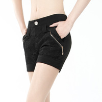 Shorts female 2013 spring new arrival slim shorts female trousers lace patchwork single-shorts pants