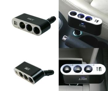 Doesthis three cigarette lighter belt usb cigarette lighter converter plug car jack car charger
