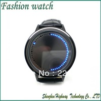 Cool Fashion Black Band LED Light Men Boys Luxury Hours Minutes Dispaly Wrist Watch Watches Free Shipping