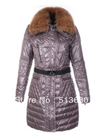 Fashion Women's quilted coat with detachable fur trim collar Parka long down coat Jacket,waterproof,windproof,warm keep,S-XL