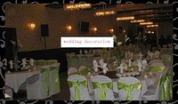 Wholesale  -satin chair cover sash- wedding chair sash