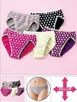 quality 100% cotton cute dot floral print  women's trigonometric underwear 5 candy colors