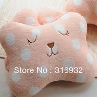 U1 Cartoon car headrest car care pillow polka dot rabbit headrest, 2pcs/lot
