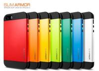 10pcs/lot Newest SGP SPIGEN SGP Slim Armor Color case for the iPhone 5 +Original Box Free Shipping wholesales
