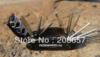 New Portable Black 16 in 1 Foldable Multi-function Bicycle Mountain Bike Tools Repair kits