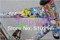 9pcs free ship bike bicycle frame repair sticker pattern logo stickers bicycle tube graffiti repair stickers 11model choose