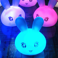 Lovely expression bunny discoloration colorful small night lamp creative gift ED006