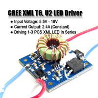 CREE 10W XM-L2 XML T6 U2 LED Driver - Driving 1~3 Pcs LEDs 2.4A, 5.5~16v