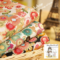 "Free Shipping!6Pcs/Lot,High Quality""Japanese Style""Floral Poplin Cotton Fabric for Sewing,Garment,Patchwork,50X74cm/19.6""x29"""