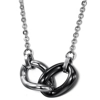 Fashion accessories 2013 buckle titanium ceramic necklace wx805