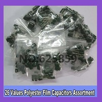 26value 520pcs Polyester Film Capacitors Assortment Kit