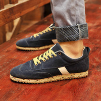 The trend of fashion skateboarding shoes popular male shoes fashion nubuck leather casual shoes low-top