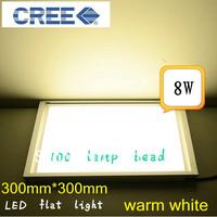 8w 10W Led Ceiling Light Warm White /White Led Light AC85-265V Led Square Panel Light
