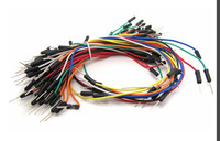 Free shiping Best prices !!! Male to Male Solderless Flexible Breadboard Jumper Cable Wires For Arduino ,65Pcs