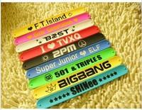 (free shipping CPAM) K - pop Korean stars popular silicone bracelet, TVXQ exobiology b1a4 bigbang sj 2 PM shinee ft