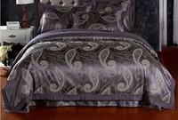 Brand New 4pcs bedding set Noble bedcover jacquard Duvet/bed set/bedlinen sets cotton Duvet Cover Flat Sheets Pillowcase