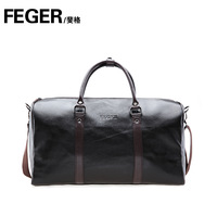 Genuine leather feger commercial travel handbag large bag fashion cowhide large capacity travel package