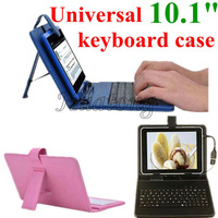 Free shipping Leather case & keyboard USB2.0 English or Russian keyboard for all 10 10.1 inch tablet Micro usb OTG free