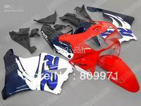 H496 White Red Full Fairing For CBR900RR 98 99 CBR-900RR 1998-1999 CBR 900RR 919 98 99 1998 1999