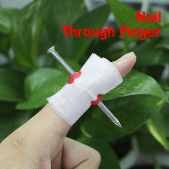 Manmade Nail Through Finger April Fool Trick Toy NI5L