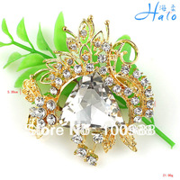 10PC/Lot Free Shipping P168-490 Quality Crystal Wedding Bouquet Fashion Brooch 2013 Latest Crystal Rhinestone Fiaries
