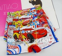 free shipping6pcs/lot New the cartoon Cars, boy boxer underwear cotton children's youngster underwear kids pants