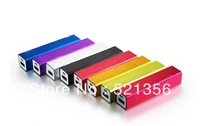 Free shipping+100pcs Full 2600mah Power Bank Portable Charger for PSP,iPhone/iPad/ipod/Samsung/HTC mobile phone,mp3/4