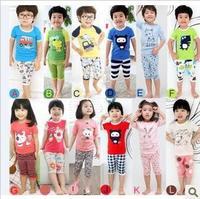 2013 children kids girls clothes Children's Clothing sets kids summer suits baby boys girls short sleeves t -shirt 6sets/lot