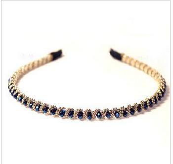 2pcs/lot 2014 hot rhinestone headband hair accessory spirally-wound elegant beaded crystal hair bands hair pin A5133(China (Mainland))