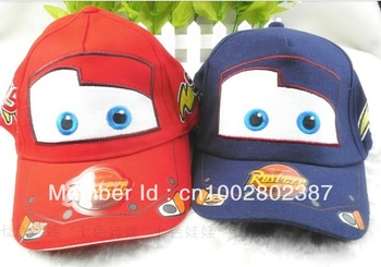 Pixar cars Hat  1pcs  6-7.5/21.3inches High quality Pixar cars Car Kid Child Hat Baseball cap