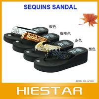 New Arrival!Lady's Sequins sandal,women Beach home flip flops slippers flat sandals
