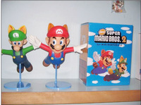 Super Mario figures New fly style Mario and Luigi PVC figure 21cm height free shipping
